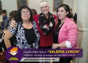 """Ganadores de la trivia """"Valeria Lynch"""""""